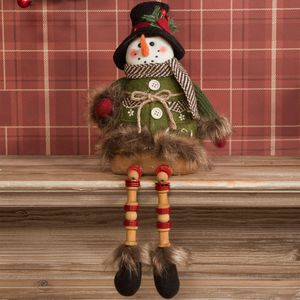 Sitting Snowman Fabric Ornament