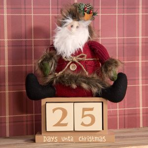 Sitting Plush Santa Christmas Countdown Advent Calendar - Days until Christmas