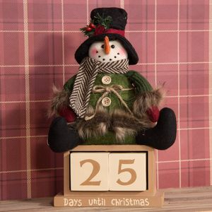Sitting Plush Snowman Christmas Countdown Advent Calendar - Days until Christmas