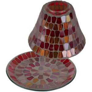Jar Candle Shade & Plate Gift Set - Amber Glow