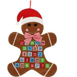 Gingerbread Man Fabric Wall Hanging Advent Calendar