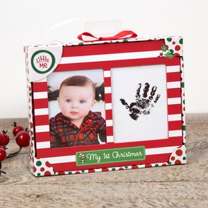 "Little Me My 1st Christmas Hand Print & Photo Frame 4"" x 3"""