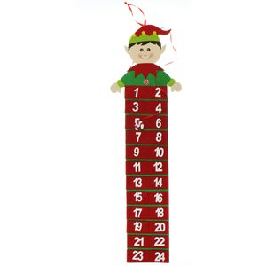 Advent Calendar - Christmas Elf with Numbered Pockets