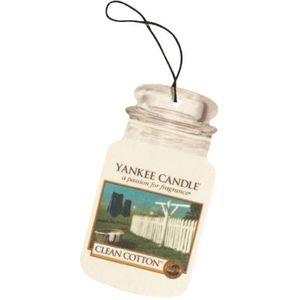 Yankee Candle Car Jar Air Freshener - Clean Cotton