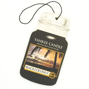Yankee Candle Car Jar Air Freshener - Black Coconut