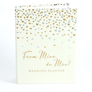 Amore Little Hearts Wedding Planner with 6 Dividers - From Miss to Mrs