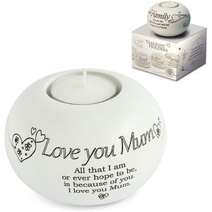 Said with Sentiment Love You Mum Tlite Candle Holder