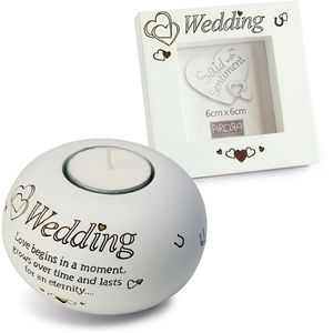 Said with Sentiment Wedding Candle Holder & Photo Frame