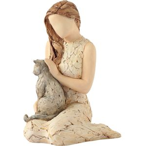 More Than Words Affection Figurine (Lady with Cat)