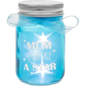 LED Light Up Firefly Mini Sentiment Jar- Mum
