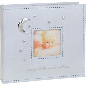 Love You To The Moon Photo Album (Blue) Baby Boy 4x6""
