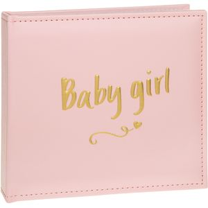 "Gold Script Photo Album Holds 50 4""x 6"" - Baby Girl"