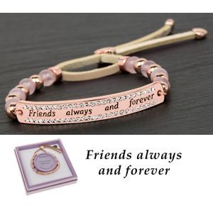 Equilibrium Rose Gold Plated Friends Bracelet