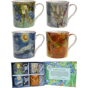 Van Gogh Set of 4 Fine China Mugs