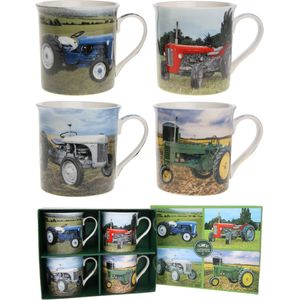 Leonardo Classic 4 Fine China Mugs Set - Tractors