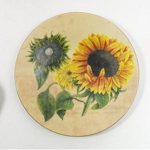 Bohemia China Wall Plate- Sunflower