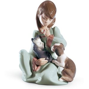 Lladro Cat Nap Figurine