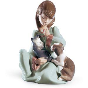 Lladro Cat Nap Figurine