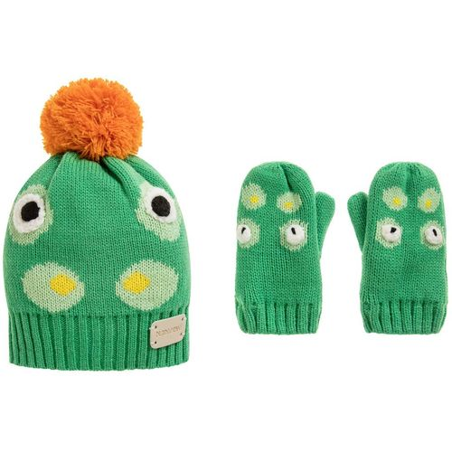 Crocodile Collection - Bobble Hat & Mitten Set - Small