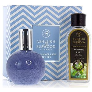 Ashleigh & Burwood Fragrance Lamp Gift Set - Blue Speckle & Summer Rain
