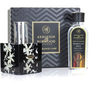 Fragrance Lamp Gift Set Silver Jasmine & Moroccan Spice