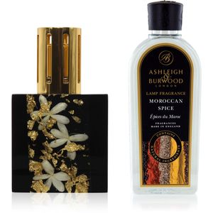 Fragrance Lamp Gift Set Gold Jasmine & Moroccan Spice