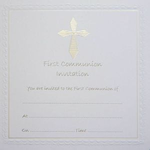 First Communion Invitations with Envelopes 10 Pack