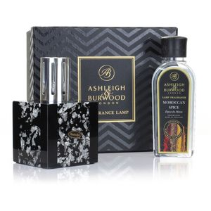 Ashleigh & Burwood Fragrance Lamp Gift Set - Midnight Silver & Moroccan Spice