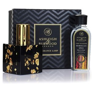 Ashleigh & Burwood Fragrance Lamp Gift Set - Midnight Gold & Moroccan Spice
