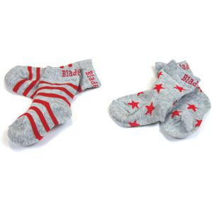 Blade & Rose Red & Grey Marl Socks