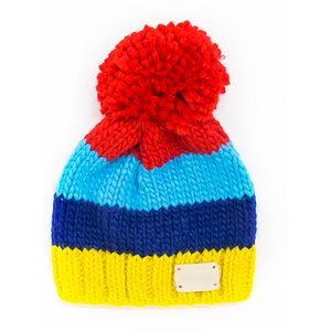 Blade & Rose Rainbow Bright Stripe Bobble Hat