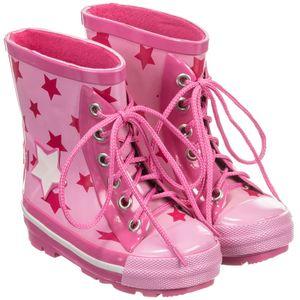 Blade & Rose Girls Pink Star Wellington Boots