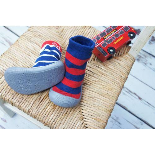 Blade & Rose Blue Stripe Sock Shoes - UK 3 Boots