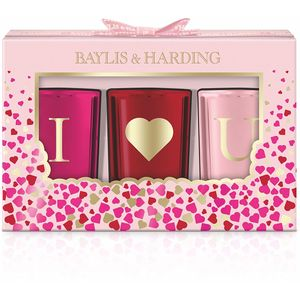 Bayliss & Harding Rose Prosecco I Love U Candles Gift Set