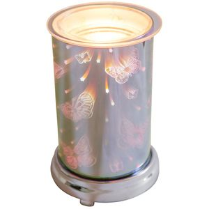 Electric Melt Burner: Harmony Silver 3D Butterflies