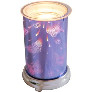 Electric Wax Melt Burner: Harmony Blue 3D Butterflies