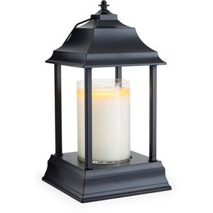 Carriage Candle Warmer Lantern - Black