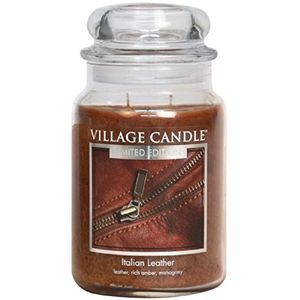 Village Candle Large Jar 26oz - Italian Leather
