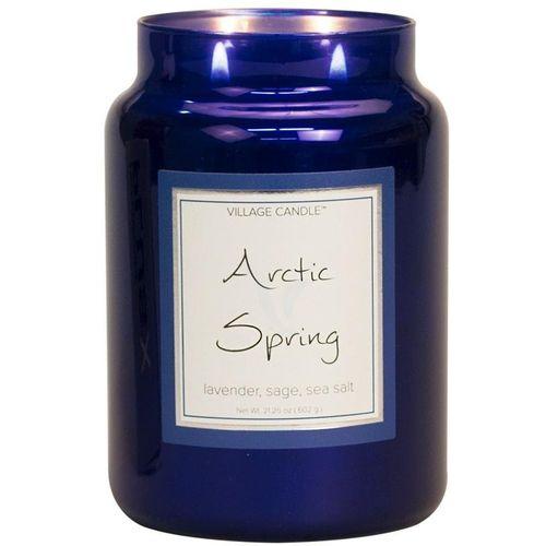 Village Candle Large Metallic Jar 26oz - Arctic Spring