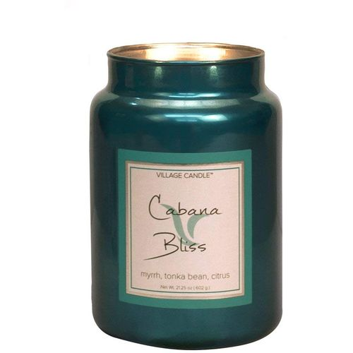 Village Candle Large Metallic Jar 26oz - Cabana Bliss