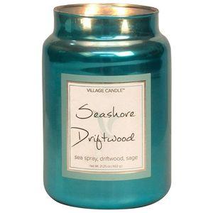 Village Candle Seashore Driftwood 26oz Metallic Jar