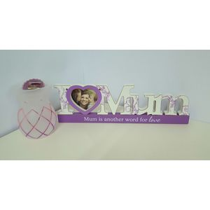 Mum Gift Set: Photo Frame & Yankee Lotus Melt Burner