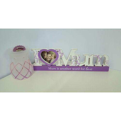 Mum Photo Frame with Yankee Candle Lotus Burner Set Mothers Day Gift