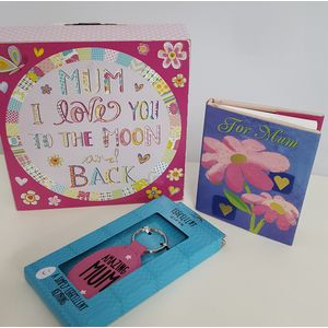 Mum Sentiment Block Book & Keyring Gift Set