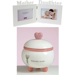 Mother & Daughter Double Photo Frame & Candle Set