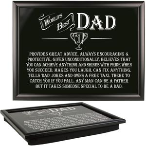 Ultimate Man Gift Lap Tray - Worlds Best Dad