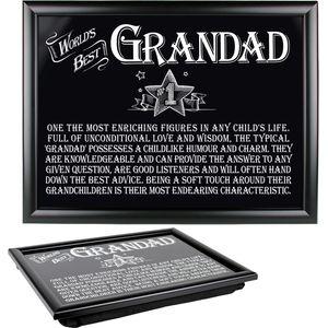 Ultimate Man Gift Lap Tray - Worlds Best Grandad