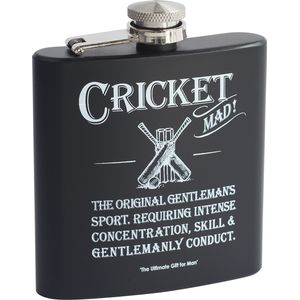 Ultimate Man Gift - Cricket Hip Flask
