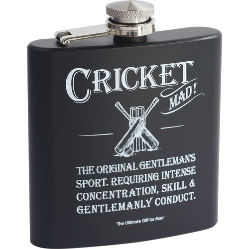Ultimate Man Gift Hipflask with cricket design