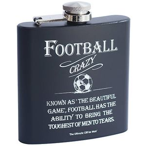 Ultimate Man Gift Hip Flask - Football Crazy